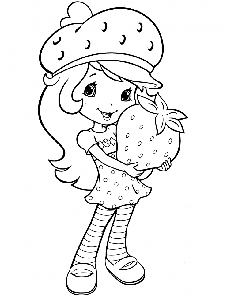 Get This Cute Strawberry Shortcake Coloring Pages to Print 85481