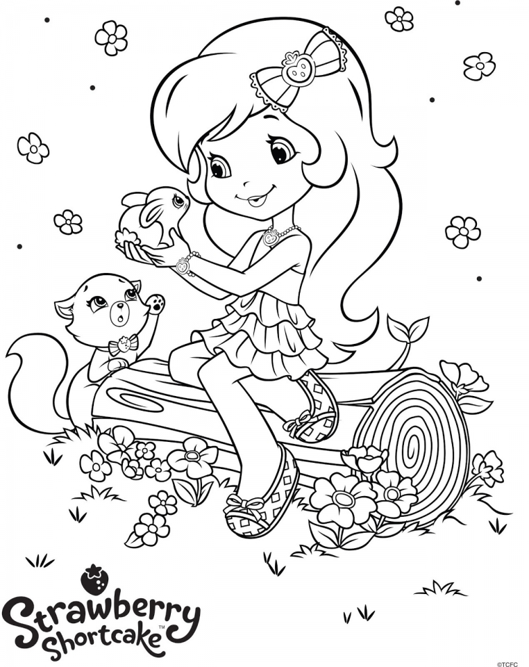 cute strawberry shortcake coloring pages to print 97683