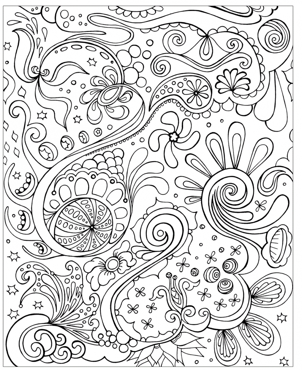 20 free printable summer coloring pages for adults