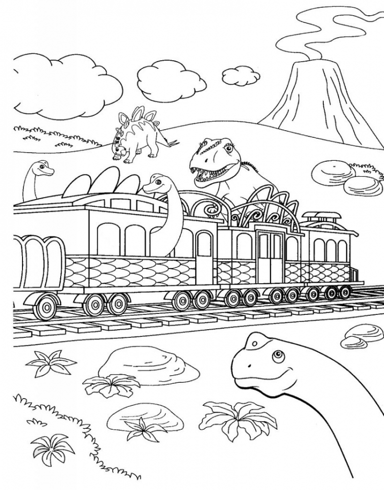 Get this dinosaur train coloring pages to print out 62771 for Train coloring book pages