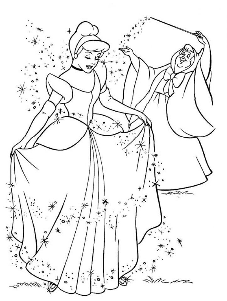 disney princess cinderella coloring pages printable 36519