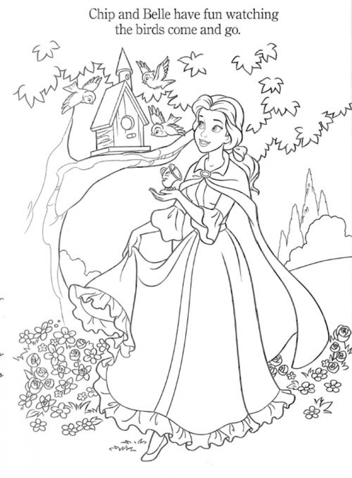 get this disney princess coloring pages of belle for girls