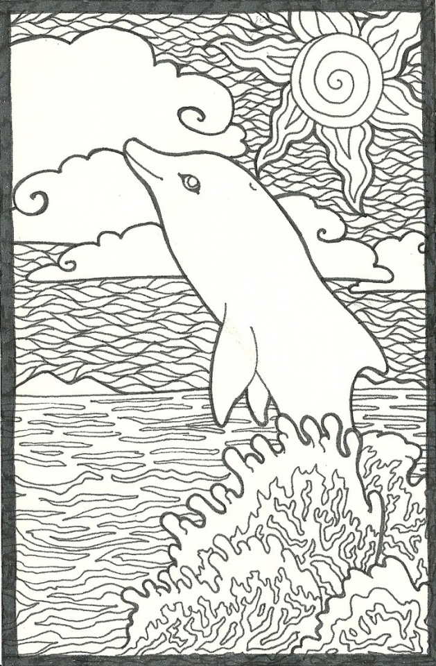 Get This Dolphin Coloring Pages Free To Print 38104