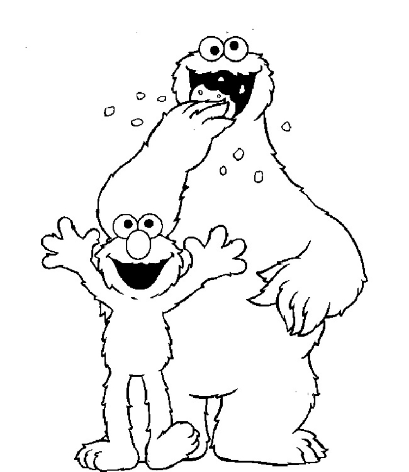 Free coloring pages elmo - Elmo Coloring Pages Free 61732