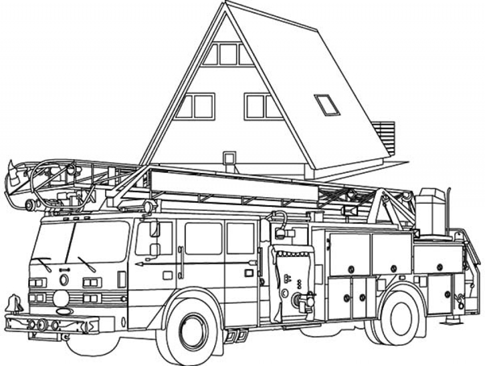 Get This Fire Truck Coloring Pages Free to Print 30018 !