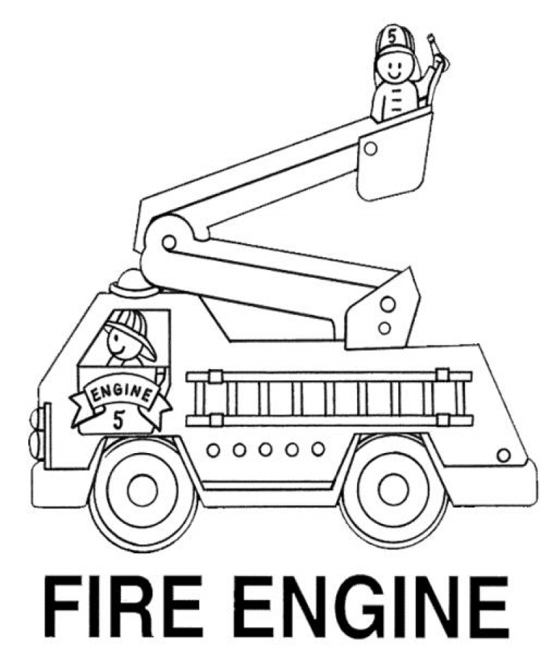 It is an image of Refreshing Fire Truck Printable