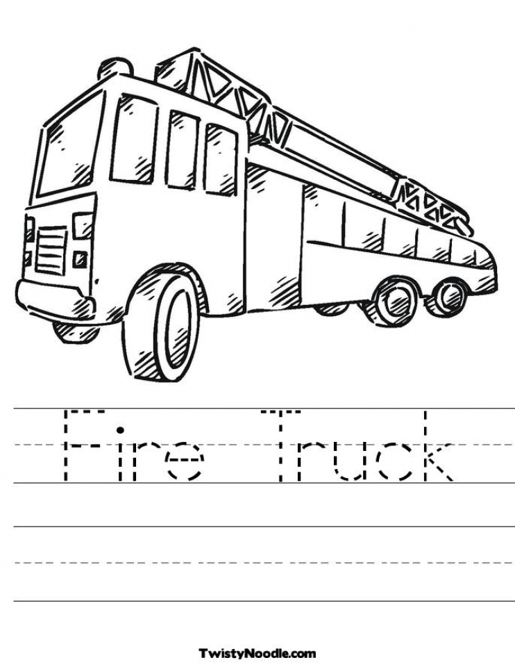 Free Fire Truck Coloring Pages To Print Get This Fire Truck Coloring Pages Free To Print 54300