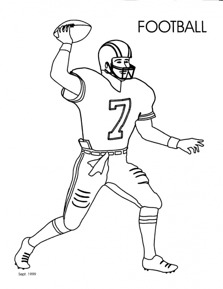 Get This Football Player Coloring Pages Printable for Kids 25581 !