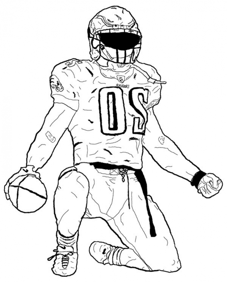 Get This Football Player Coloring Pages to Print Online 07577