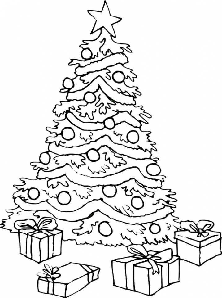 Get This Free Christmas Tree Coloring Pages 15714