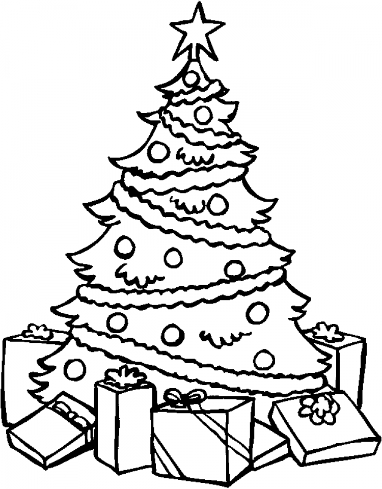 free christmas tree coloring pages 84299 - Christmas Tree Coloring Pages