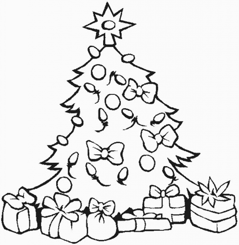 Get This Free Christmas Tree Coloring Pages to Print