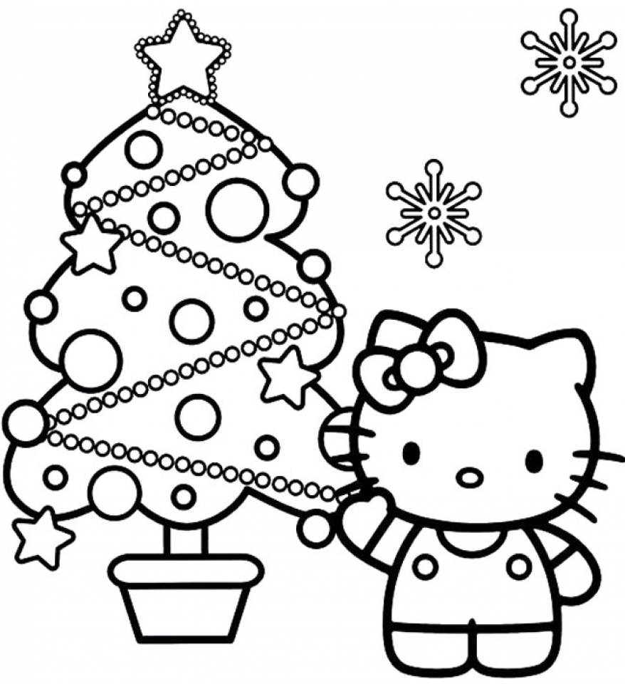 Get This Free Christmas Tree Coloring Pages to Print 85153