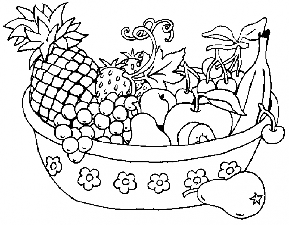 Free Fruit Coloring Pages   16703