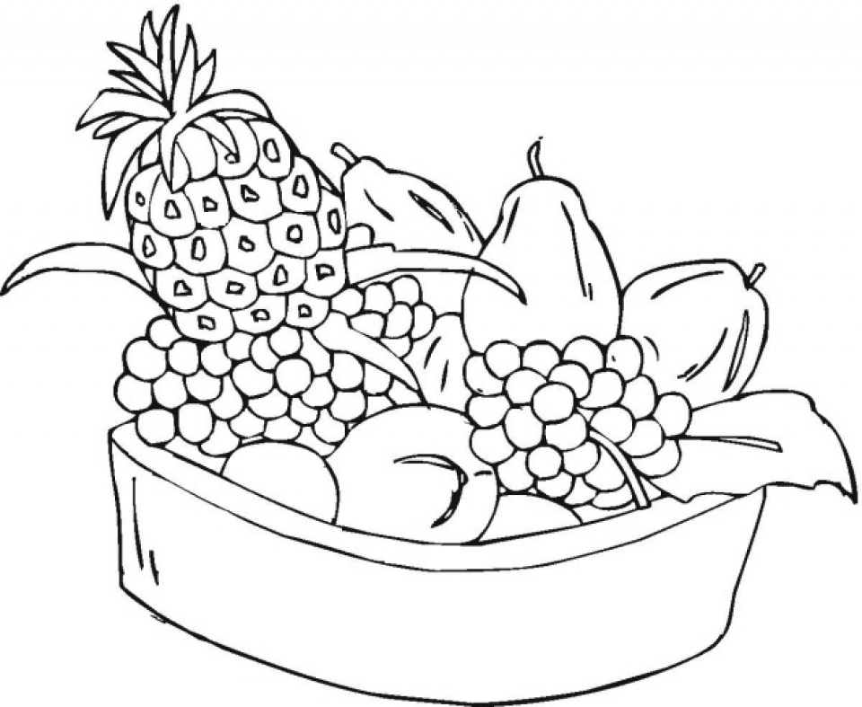 Get This Free Fruit Coloring Pages to Print 33603