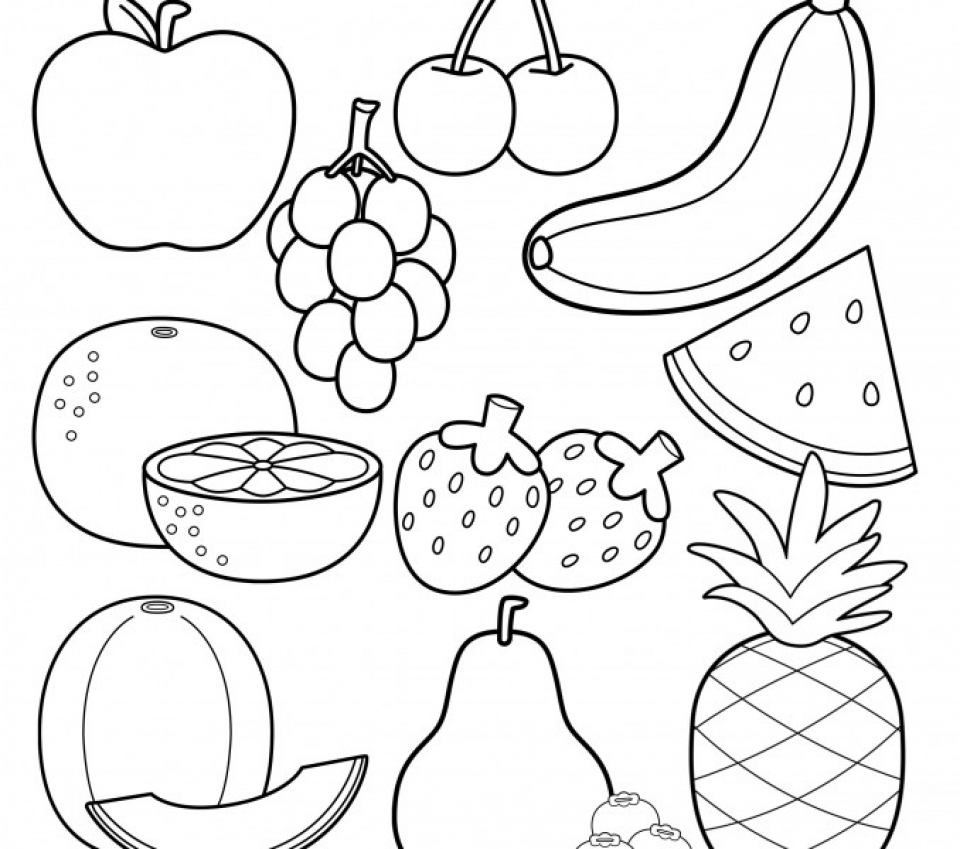 Fruit Coloring Pages Kidsuki
