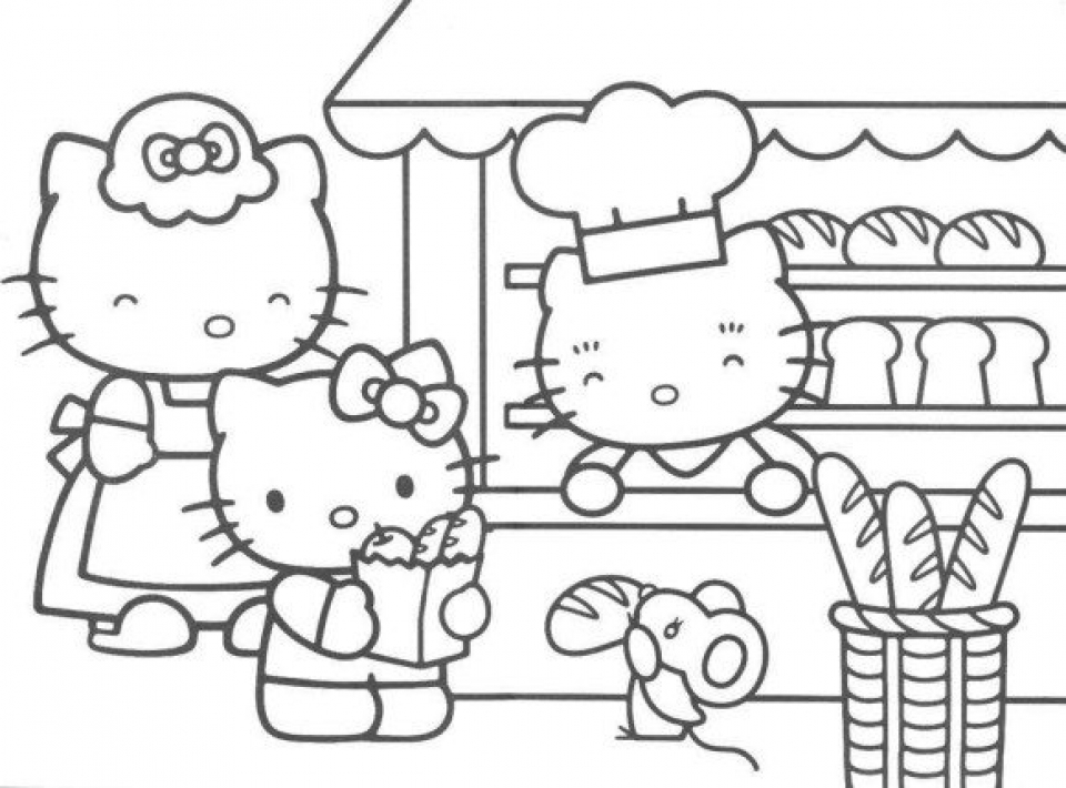 free kitty printable coloring pages for kids 09561 - Kitty Printable Color Pages