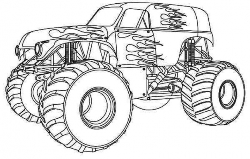 Get This Free Monster Truck Coloring Pages To Print 51094