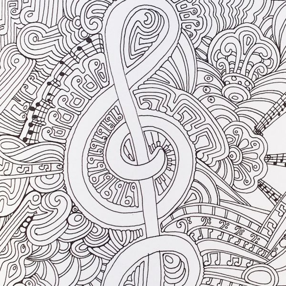 It is a photo of Rare Free Printable Music Coloring Pages