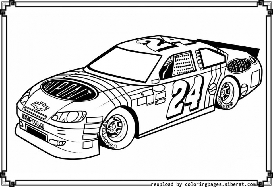 free nascar coloring pages for kids 92180 - Nascar Coloring Pages