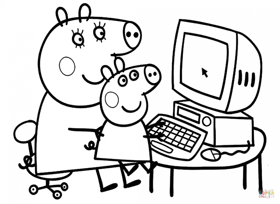 Get This Free Peppa Pig Coloring Pages 68107