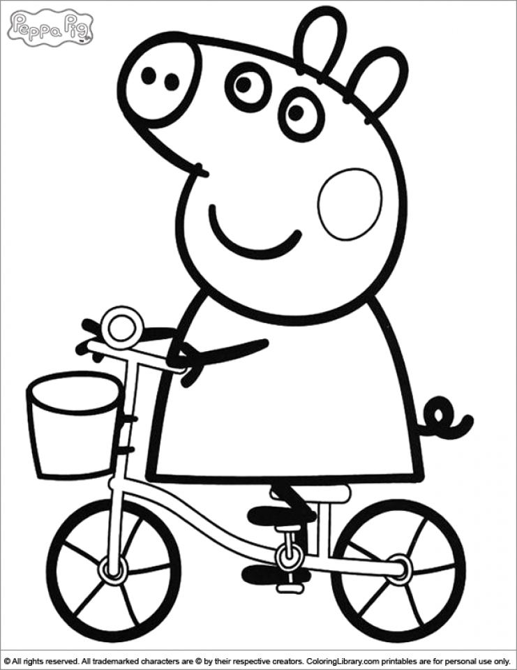 Free Coloring Pages For Peppa Pig. Free Peppa Pig Coloring Pages to Print 45579 Get This