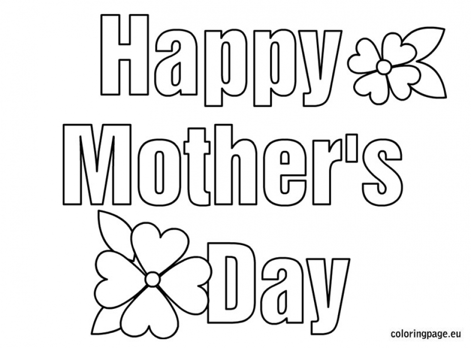 free printable mothers day coloring pages 92019 - Mothers Day Coloring Pages Free