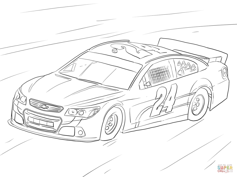 free printable nascar coloring pages for children 58632 - Nascar Coloring Pages