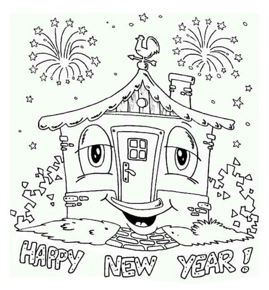 Get This Free Printable New Years Coloring Pages Online 31009