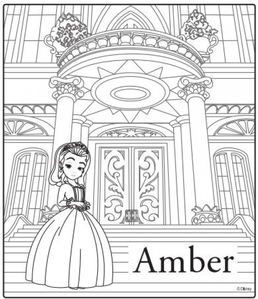 100 sophia coloring pages best impressive princess sofia