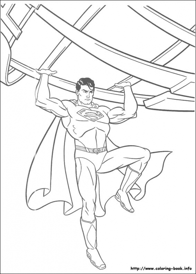 Get This Free Superman Coloring Pages 64668 !