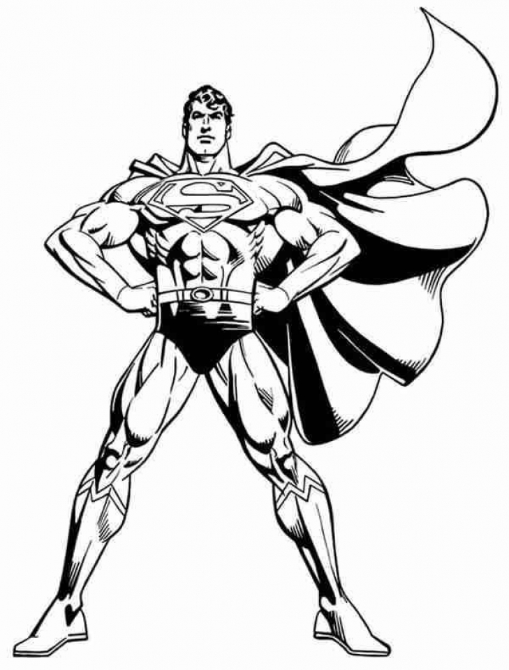 Get this free superman coloring pages to print 29825 for Super man coloring page
