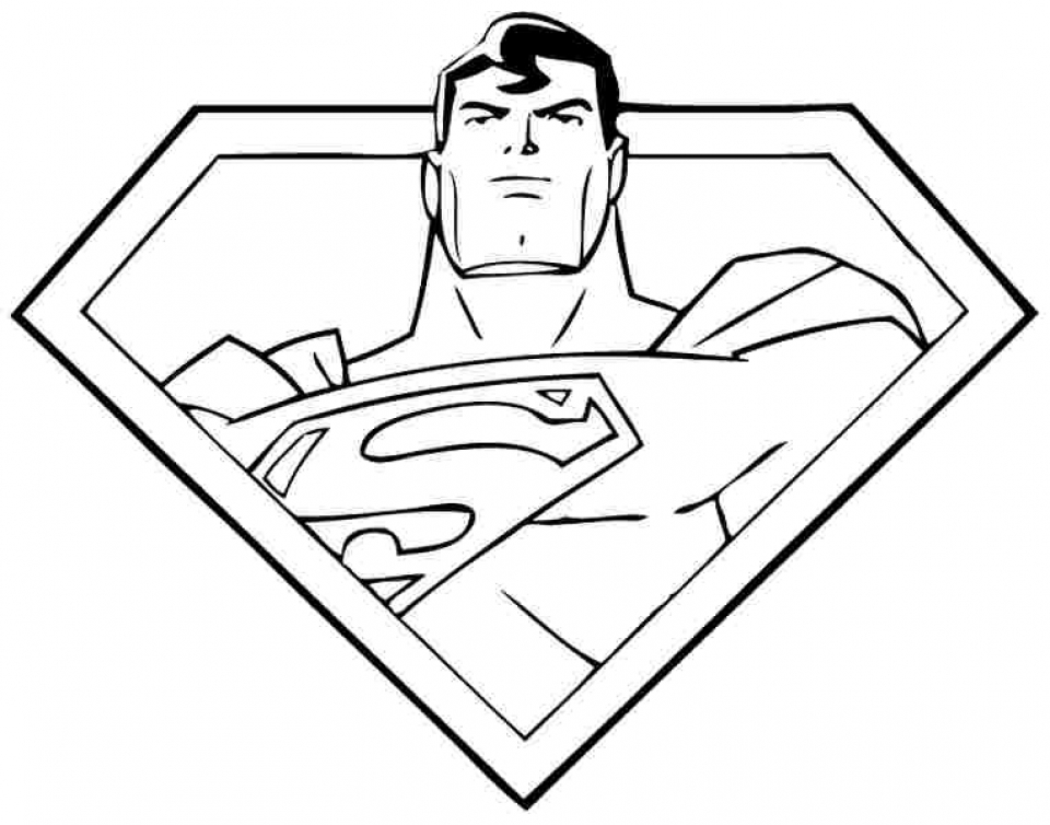 Get this free superman coloring pages to print 92991 for Super man coloring page