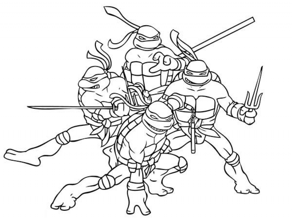 Get This Free Teenage Mutant Ninja Turtles Coloring Pages to Print ...