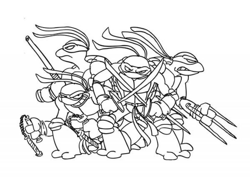 Get this free teenage mutant ninja turtles coloring pages for Tmnt coloring page