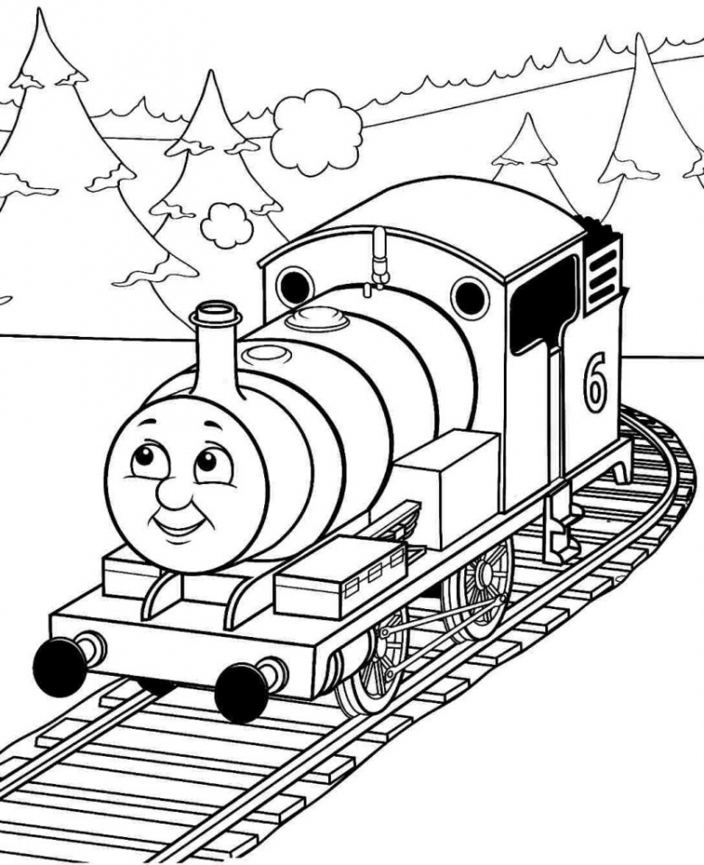 Get this free thomas the train coloring pages to print 67414 for Train coloring book pages