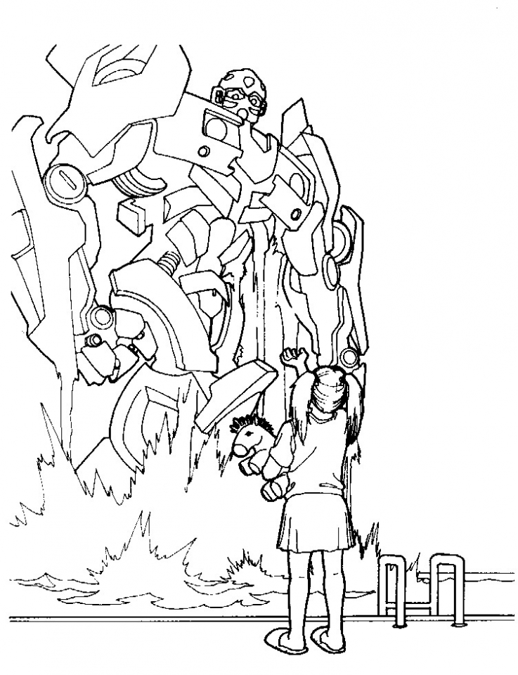 Get This Free Transformers Coloring Pages To Print Out