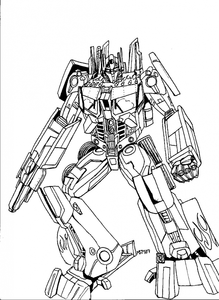 Get This Free Transformers Printables to Color for Kids