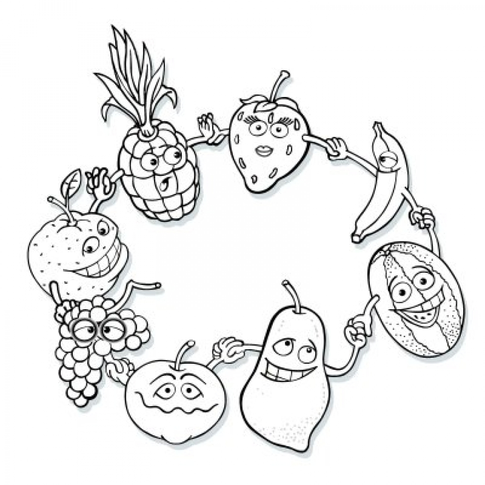 Get This Fruit Coloring Pages Free