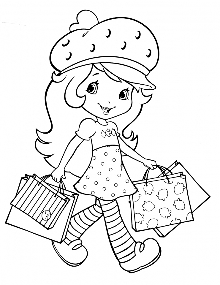 Get this fun strawberry shortcake coloring pages for girls for Fun coloring pages for girls