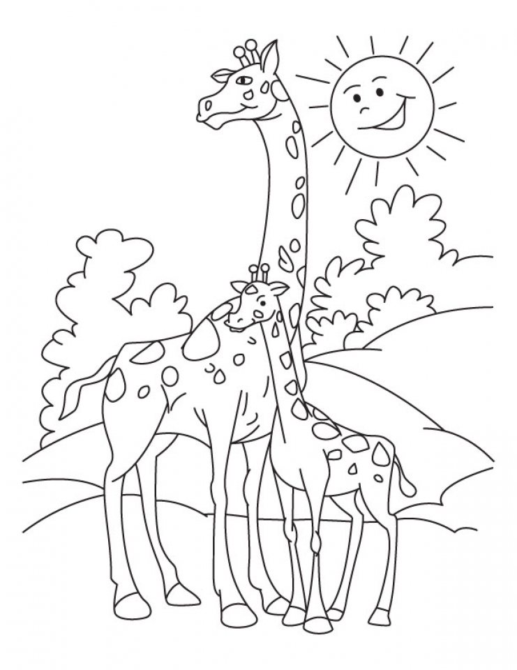 Get this giraffe coloring pages printable 64195 for Giraffe coloring pages to print