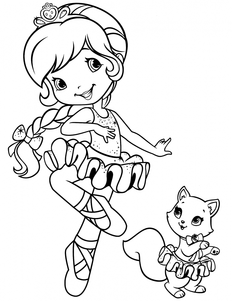 Get this girls coloring pages of strawberry shortcake for Strawberry shortcake coloring pages to print