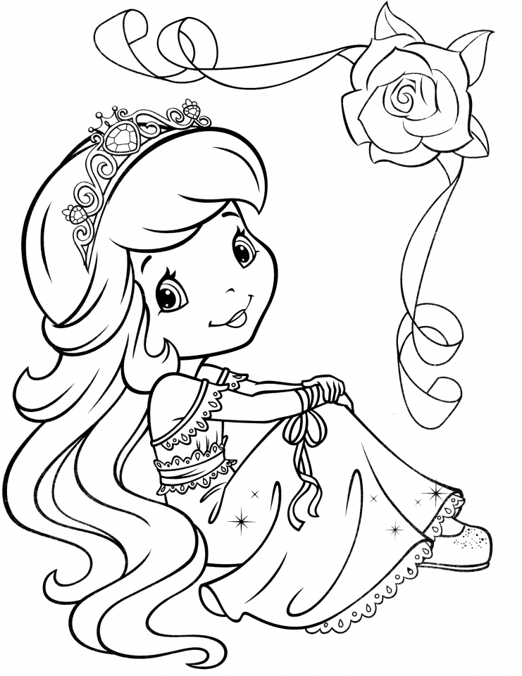 strawberry shortcake colouring pages pdf