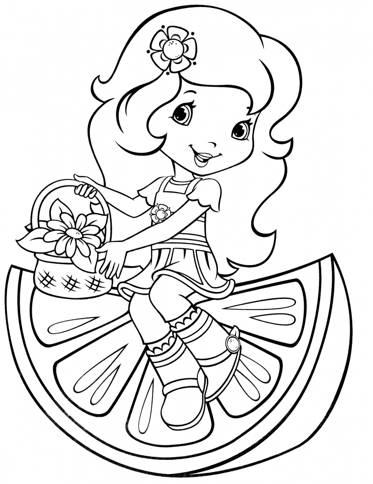 woman coloring pages - get this girls coloring pages of strawberry shortcake