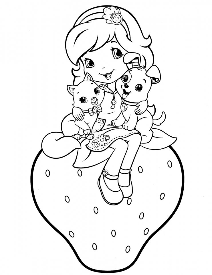 girls coloring pages - get this girls coloring pages of strawberry shortcake