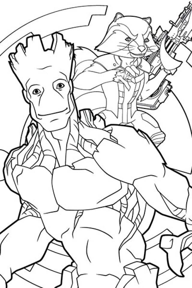 galaxy coloring pages for adults - get this guardians of the galaxy all characters coloring