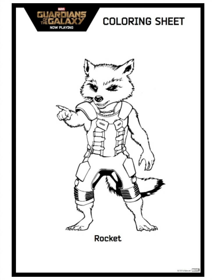 Get This Guardians of the Galaxy Coloring Pages Printable 72611