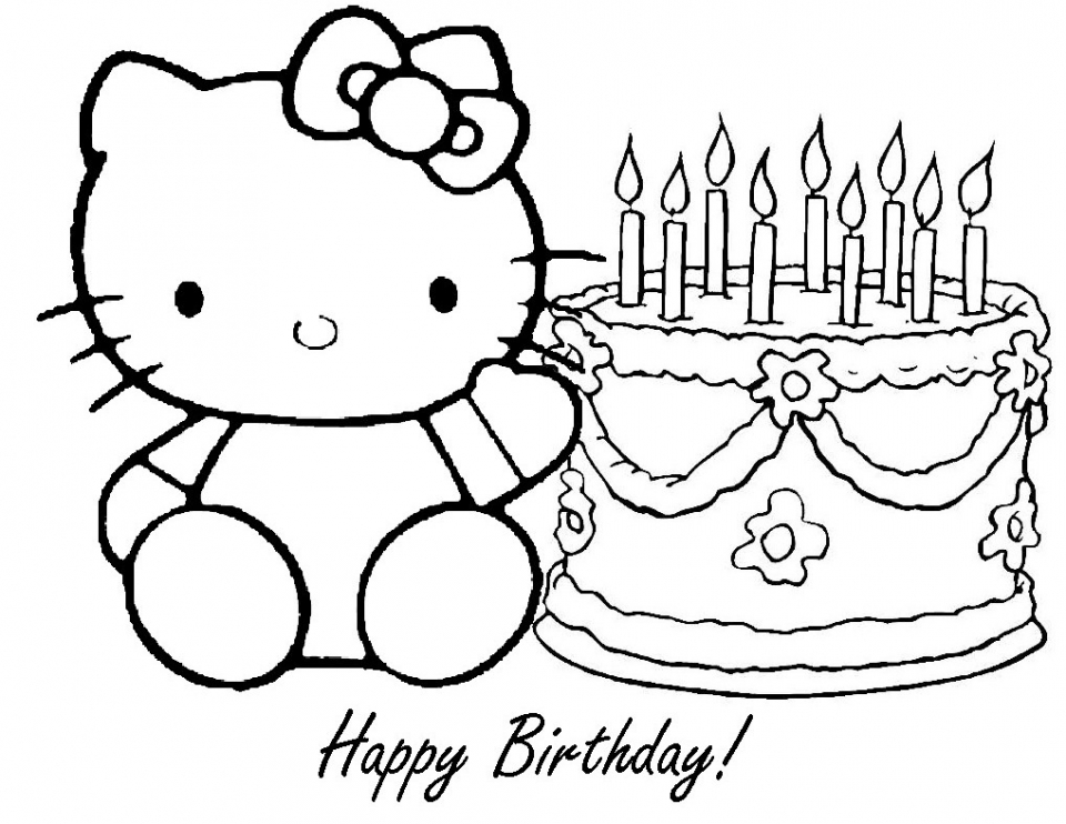 happy birthday color page - get this happy birthday coloring pages for kids 31785