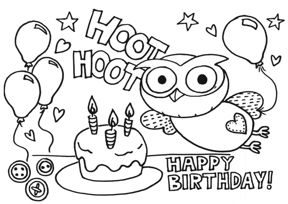 Get This Happy Birthday Coloring Pages for Kids 61803
