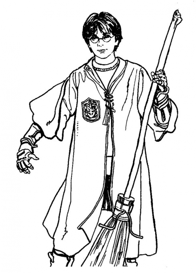 Get This Harry Potter Coloring Pages Free to Print 16738 !